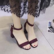 露趾时尚百搭一字扣带凉鞋