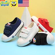 海绵宝宝儿童魔术贴帆布鞋