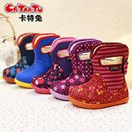 卡特兔宝宝防水防滑学步棉靴