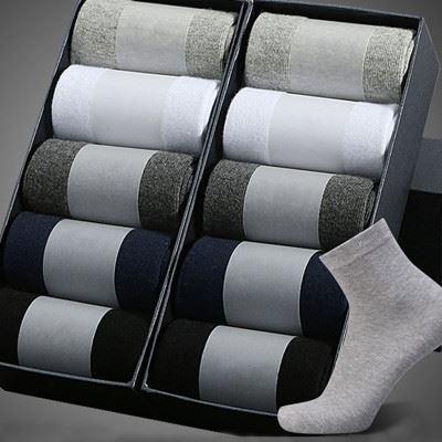 袜子纯棉袜防臭袜商务袜十双