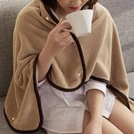 珊瑚绒纽扣午睡空调毯