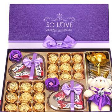 德芙金沙巧克力圣诞节礼盒装