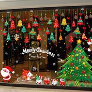 小艾艾橱窗玻璃圣诞节贴纸