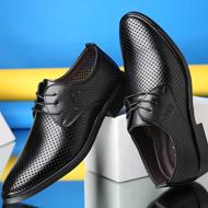 男士真皮镂空商务皮鞋