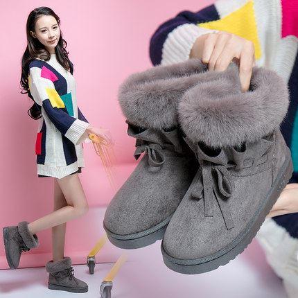 亿家乐冬季新款欧美毛毛雪地靴