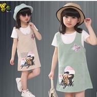 女童短袖+连衣裙套装