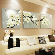 客厅现代简约装饰三联画