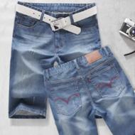 夏季新品男士牛仔短裤