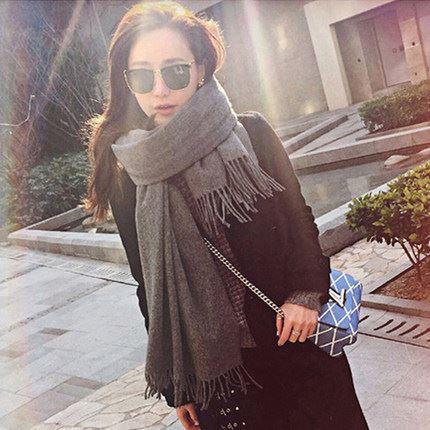 反季特卖:韩版秋冬加厚仿羊绒围巾