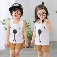 1-5岁男女童背心+短裤套装