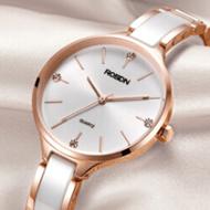 劳士顿 防水陶瓷石英女士手表