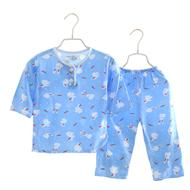 夏季儿童棉绸睡衣套装