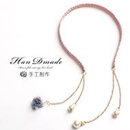 韩国发饰珍珠假耳环头箍