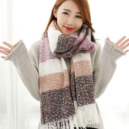 冬季韩版加厚长款围巾