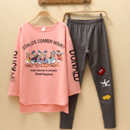 秋季韩版纯棉长袖长裤套装