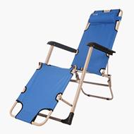 红色营地折叠午休躺椅麂皮绒棉垫