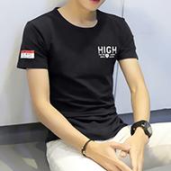 男士圆领韩版修身T恤
