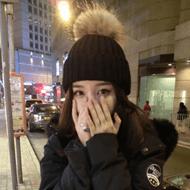 冬季韩版仿狐狸毛球毛线帽