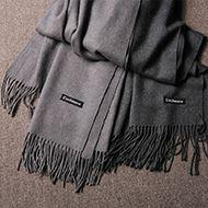 冬季仿羊绒加厚加宽保暖围巾