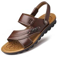 夏季男士防滑真皮凉鞋