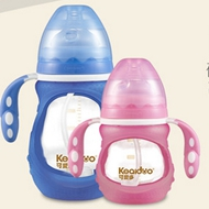 可爱多防摔婴儿玻璃奶瓶