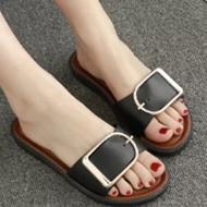 信智利欧美时尚一字平跟拖鞋
