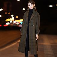 秋冬韩版宽松呢子大衣