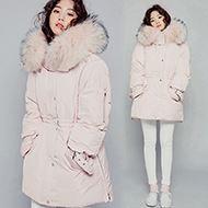 韩版中长款加厚修身羽绒服