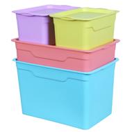 尚洁 塑料收纳箱四件套装