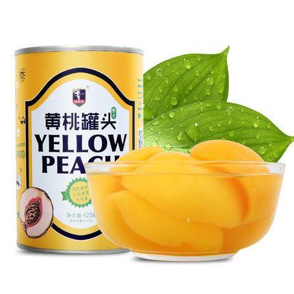 爱斯曼黄桃罐头425g*6罐整箱