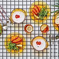 10点:多莱斯钢化玻璃碗盘套装