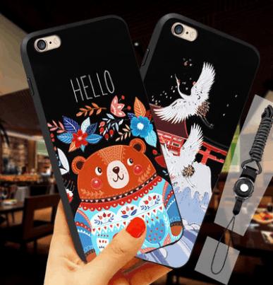 猫咪潮六创意苹果手机壳套