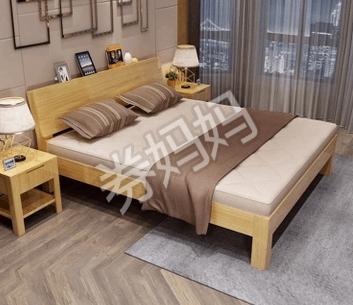 晟义德松木实木床200*180cm