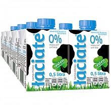 Laciate 艾鲜 高温灭菌零脂肪牛奶 0.5L*8盒