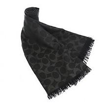 COACH 蔻驰 女款羊毛真丝混纺围巾 F86011