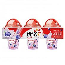 限地区:Yolplait 优诺 珍珠奶吸 风味酸乳 蓝莓果粒酸奶 170g*3杯