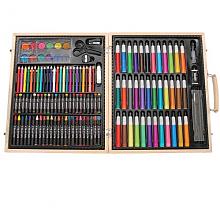 Darice木盒便携式美术绘画工具 131件豪华版