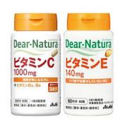Asahi 朝日 Dear Natura天然维生素C 维生素E 2*60粒