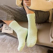 柔尔宜 可爱珊瑚绒睡眠袜羊毛袜5双