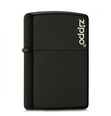 ZIPPO 芝宝 218ZL 黑色哑漆商标打火机