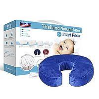 TAIPATEX 天然泰国乳胶舒颈U型枕 蓝色 34cmx28cmx8cm