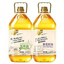 福临门 食用油 (玉米油3.09L 葵花籽油3.09L)