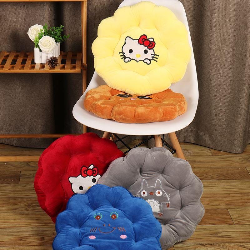 加厚圆饼干卡通可爱坐垫