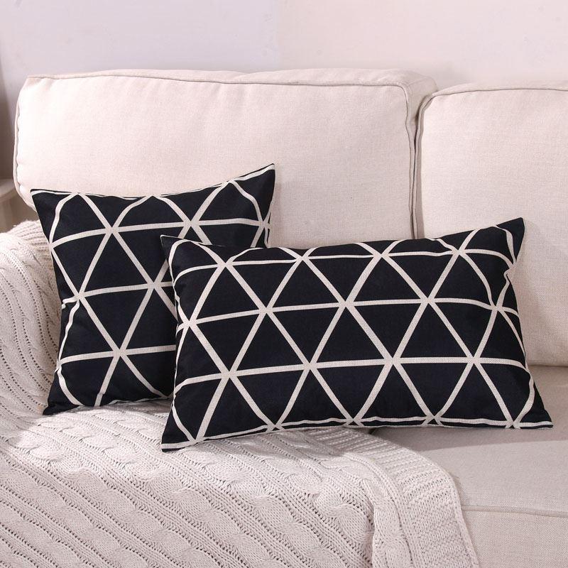 棉麻客厅沙发枕套