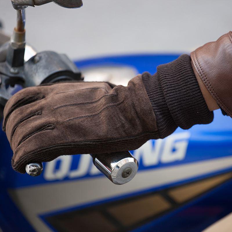 男女加厚加绒防水骑行真皮手套