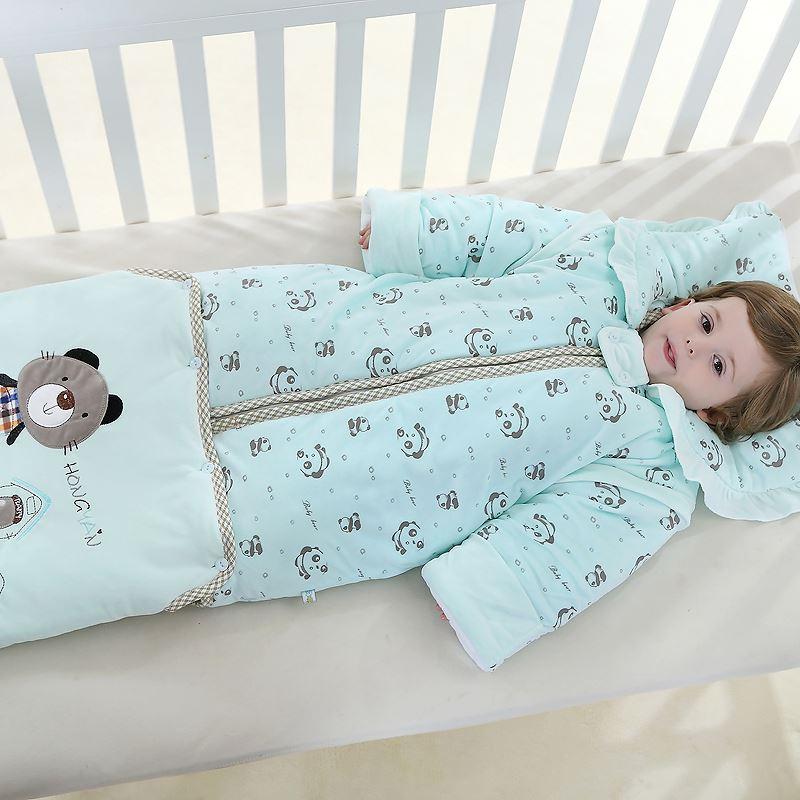 冬季必备婴儿加厚防踢睡袋