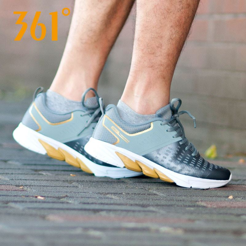 361度透气系带轻便气垫休闲运动鞋