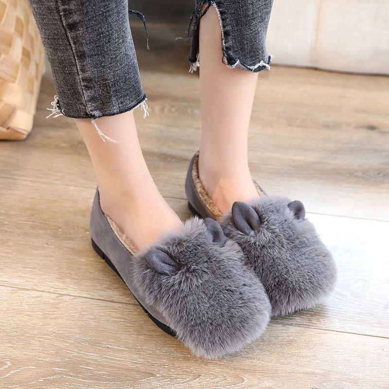 可爱毛绒防滑女鞋