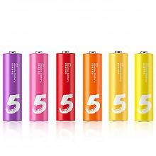 紫米ZMI 彩虹5号电池 6粒装