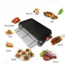 美恺达 韩式家用无烟不粘多功能电烧烤炉铁板